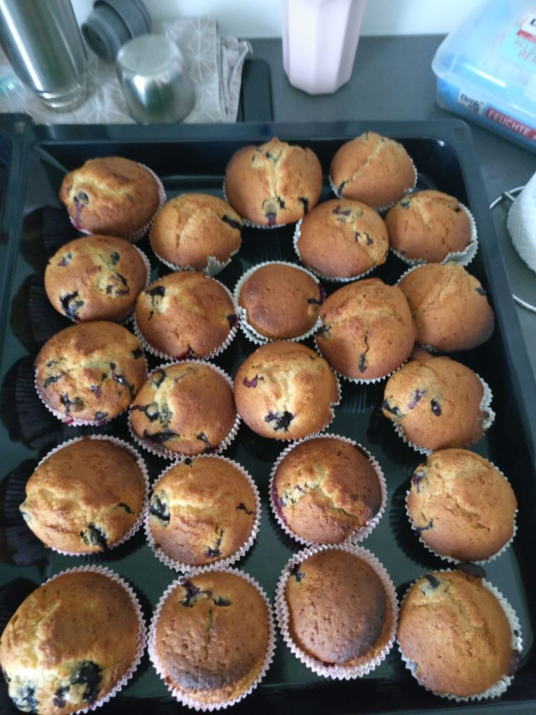Delicious Homemade Blueberry Muffins
